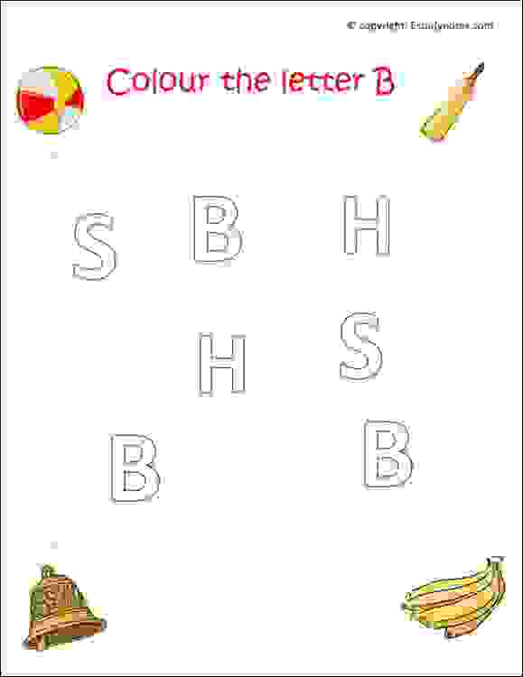 preschool english alphabet worksheets
