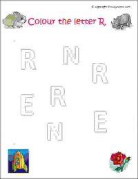 preschool english letters worksheets