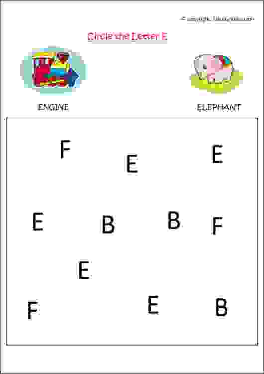 english alphabet recognition worksheet