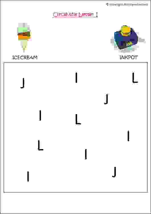 english alphabet recognition worksheet