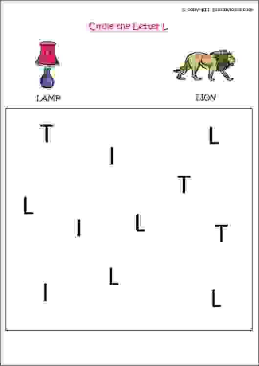 english letter recognition worksheet