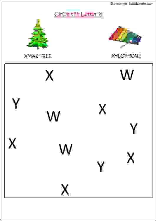 english letter recognition worksheet
