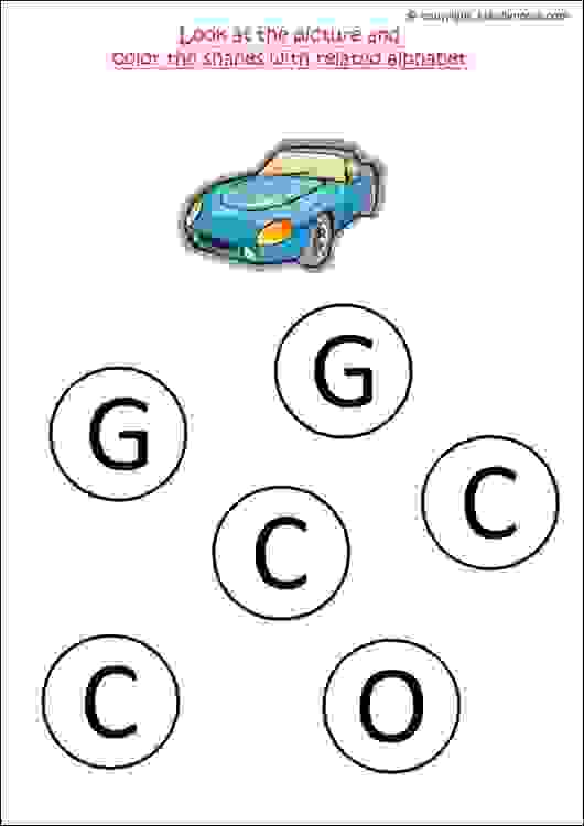 nursery class english alphabet worksheets