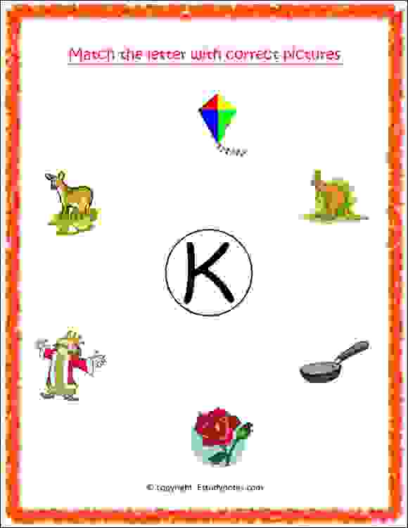 nursery class english letter practice sheet