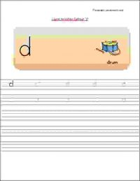 nursery class small letters writing worksheets