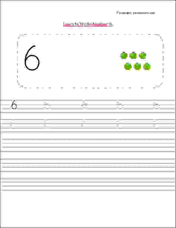 nursery class maths number writing