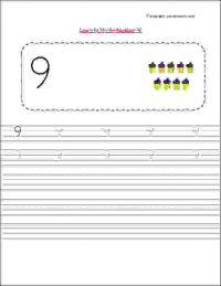 nursery class maths number writing