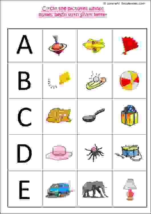 cbse english worksheets for junior kg - EStudyNotes