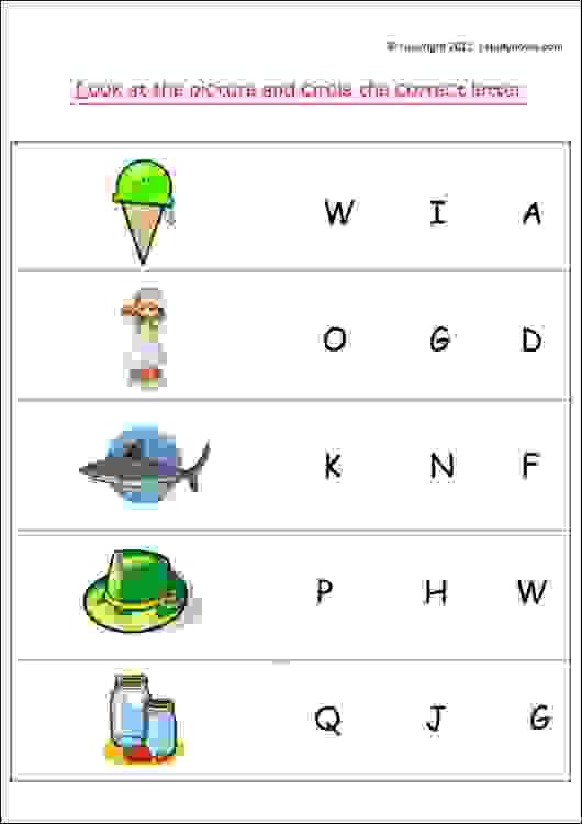 lower kg english worksheets