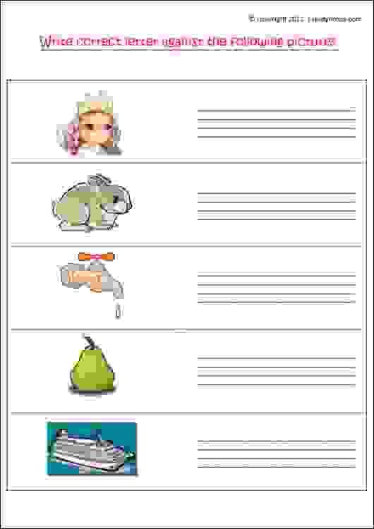 english writing worksheet for junior kg