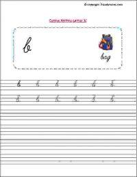 senior kg english cursive writing worksheets