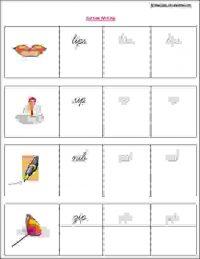 upper kg english vowel writing workshees
