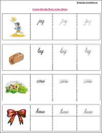 senior kg english writing worksheet