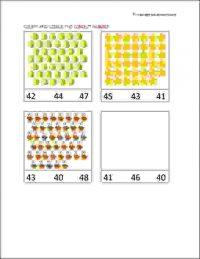 senior kg count and circle worksheets
