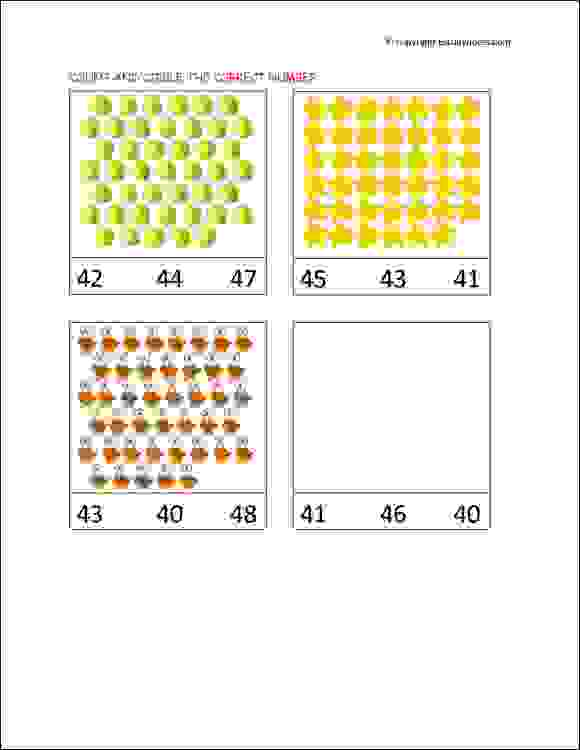 senior kg count and circle worksheets