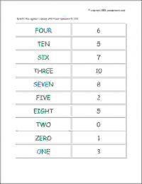 senior kg number names worksheets