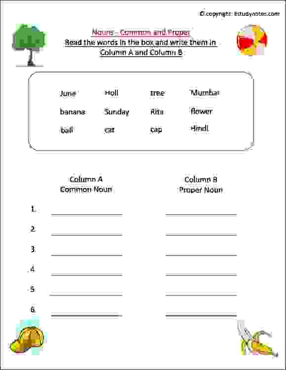 Noun Worksheet 2