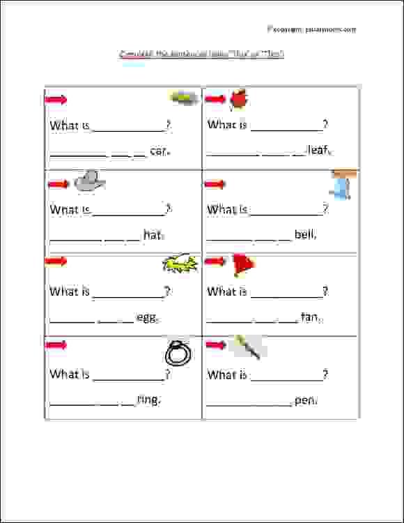 ÿenglish grammar worksheets class 1