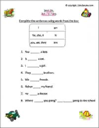 verbs worksheets for class 1