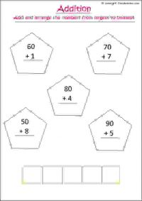 maths addition worksheets numbers 51 to 100