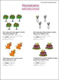 multiplication add in equal groups worksheet