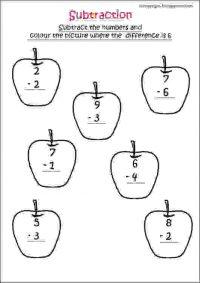 cbse maths subtraction worksheet for grade 1