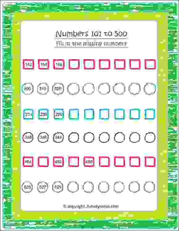 class 2 maths skip counting worksheets