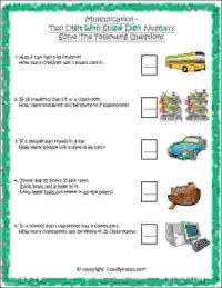 maths multiplication word problems class 2