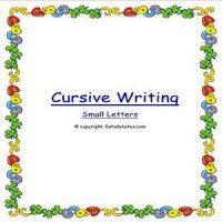 english cursive writing workbook