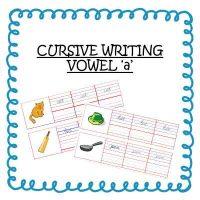 Senior KG Cursive Writing Worksheets For Words With Vowel a -