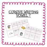 Senior KG Worksheets Cursive Writing Words With Vowel i