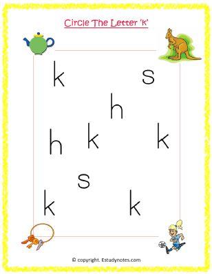 English worksheets for junior kg