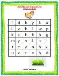 English activity worksheet for kindergarten
