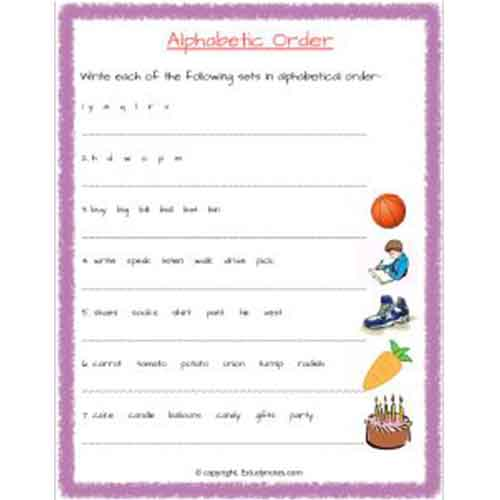 english alphabetical order worksheets for class 2