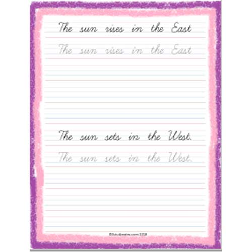 cursive writing worksheets for std 2
