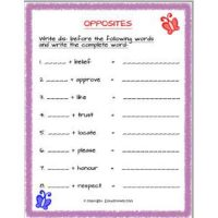 english grammar opposites using dis worksheets for grade 2
