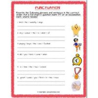 english grammar punctuation worksheets for class 2