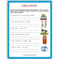 english grammar punctuation worksheets for grade 2