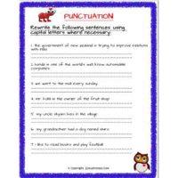 english grammar worksheets for std 2