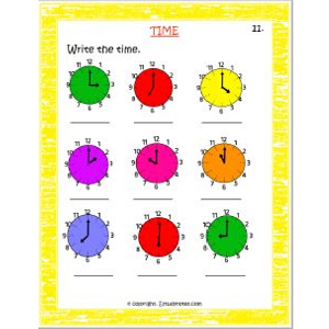 maths time practice worksheets for std 3
