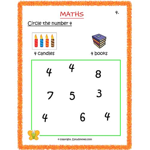 maths worksheets for nursery