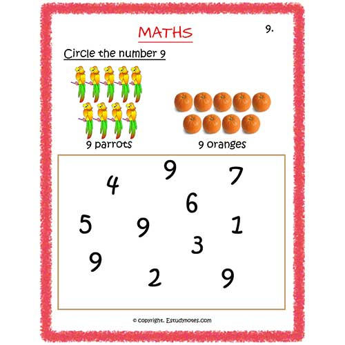 maths worksheets for preschool