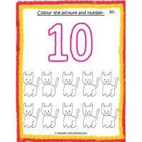 maths number worksheets for nursery
