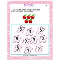 free printable maths worksheets for nursery