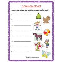 free printable noun worksheets for grade 2