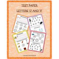 English Test Paper U and V Nursery and Kindergarten 1