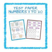 Maths Test Paper-Numbers 11-20 Kindergarten 2