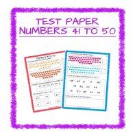 Maths Test Paper-Numbers 41-50 Kindergarten 2