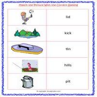 English vowel worksheets for kindergarten