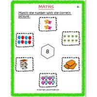 free number worksheets for preschool